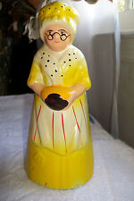 Old Vintage Statue Chalkware Figurine Victorian China Dish Planter Exc.Condition