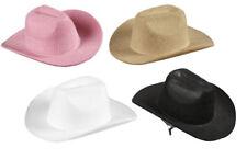 300328 Mini Cowboyhut mit Haarspange Fasching Party Hat Minihut Faschingshut