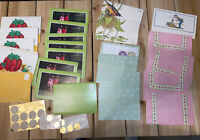 Lot Vintage Stationery- Tri Fold, Fold And Send, Fold A Note- 26 Cards