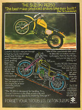 1977 Suzuki PE 250 PE250 Enduro Motorcycle color photo vintage print Ad