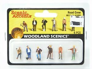 HO 1/87 Scale Woodland Scenics A1850 Road Crew Figures Pack - Sealed