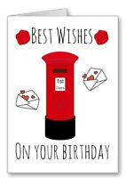 Postman Post lady Birthday Card Postie Postal Worker Mail