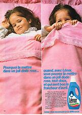 PUBLICITE ADVERTISING 114  1982  LENOR   assouplissant fraicheur Avril