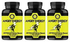 Angry Energy All Natural Energy Booster with Caffeine and Garcinia Cambogia 3PK
