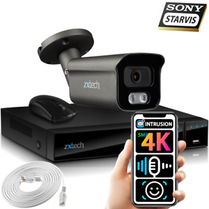 5MP & 4K CCTV System 1x Face AI Sony Starvis Audio Recording HDR Security Camera