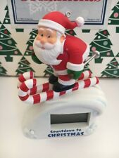 Countdown To Christmas Hallmark Keepsake Santa Magic Light Ornament NIB