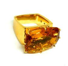 H. Stern Yellow Gold Citrine Diamond Sapphire Ring