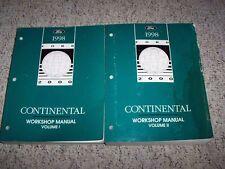 1998 Lincoln Continental Factory Shop Service Repair Manual Book Set 4.6L V8