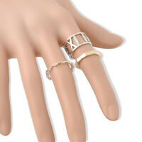 3PCS/Set Fashion Hot Hollow Stack Plain Cute Above Knuckle Ring Band Midi Rings