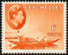 Seychelles 1938-49 6c. fishing pirogue, MH (SG#137)