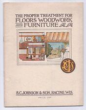 Circa 1915 S.C. Johnson & Son Brochure with Price Sheet