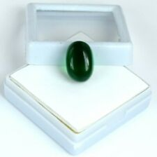 Muzo Colombian Emerald 11-13 Ct Natural 15 x 10 mm Oval Cabochon AGI Certified