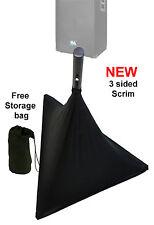 Black spandex Lycra speaker scrim DJ tripod stand cover triple 3 sided disco