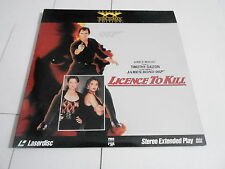 1990 vintage LASER DISC MOVIE - JAMES BOND - LICENCE TO KILL