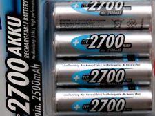Pile AA rechargeable LR 0 6 accu batterie jusqu'à 2700 mAh x4 Ni-MH stock France