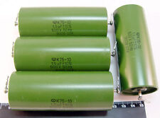 4x 1.5uF 500V K75-10 Big Audio Capacitors K7510 1,5 Paper In Oil Pio #405
