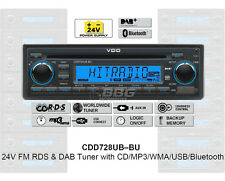 24 Volt Bluetooth Radio LKW RDS DAB Tuner CD MP3 WMA USB Truck Bus CDD728UB-BU
