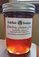 STRAWBERRY JALAPENO PEPPER JELLY  (pack of 2 -8oz.jars) HOMEMADE IN MISSOURI