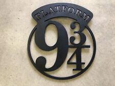 Harry Potter Platform 9 3/4 Metal Wall Sign