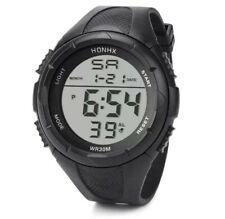 HONHX Mens All Black Military Style Army Walking Sports Waterproof Watch