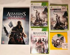 Assassin's Creed III, Brotherhood ,Revelations Guide Book Lot  XBOX 360