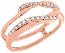 Swivel 14K Rose Gold 0.19 Ct Diamond Enhancer Wrap Solitaire Engagement Ring