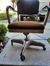 Vintage All-Steel Equipment 1950s 1960s Brown Office Chair Industrial Boeing Air
