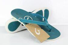 Olukia Women's Ho'opio Flip Flop Sandals Teal/Teal