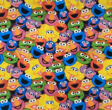 Sesame Street Packed Faces Digital 100% Cotton Fabric by the FAT QUARTER 18