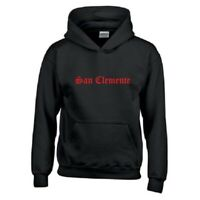 San Clemente Local Old English Beach City OC CA Black Hoodie Hooded Sweatshirt