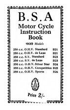 (0270) 1939 BSA B21 B23 B24 B25 B26 instruction book