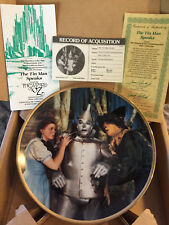 "Wizard of Oz Hamilton Plate Collection ""The Tin Man Speaks� with Coa"