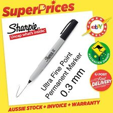 SHARPIE◉1 BLACK PERMANENT MARKER PEN◉ULTRA FINE◉0.3mm TIP POINT◉WATER RESISTANT◉