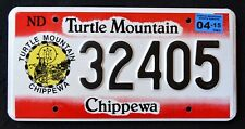 "NORTH DAKOTA "" TURTLE MOUNTAIN CHIPPEWA NATION TRIBE ""  Indian License Plate"