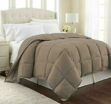 New 1 Piece Mocha Solid Comforter Cotton 600 TC US Microfiber Fill Heavy Weight