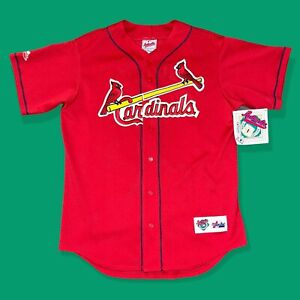 St. Louis Cardinals Mark McGwire 25 Red Mesh Authentic Majestic Jersey Medium
