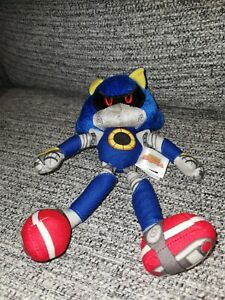 "Tomy Sonic Boom Series Metal Sonic Character 10"" Plush Soft  Sega Toy Very Rare"