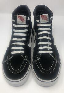 Vans Old Skool Sneakers Black Suede Canvas  Skateboard HighTop Shoes SZ 11.5 US