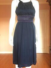 Philosophy di Alberta Ferretti Purple Silk Satin Detail Sleeveless Dress size 4