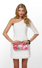 NWT $388 Lilly Pulitzer Sz 10 Dress Whitaker Resort White Truly Mini Daisy Lace