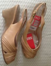 New with tags, PAVERS beige sling back wedge sandals UK 5 was £34.99 Now £16.99