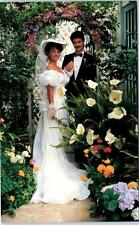 HALF MOON BAY, California CA  MILL ROSE INN  Bride & Groom  Advertising Postcard