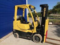 2016 HYSTER S50FT WAREHOUSE 5000LB FORKLIFT LPG LOW HOUR TALL LIFT