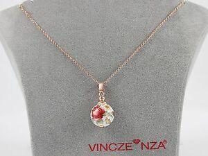 VINCZENZA  Palladio italienisches Design, Collier in 925/- Silber rotvergoldet!