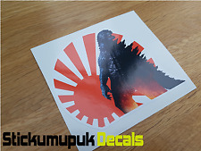 Godzilla Jdm Flag Sunrise ,JDM Sticker for Japanese Car Civic Type R Nissan