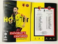 Watford v Sheffield United Premier League Programme 2019/20