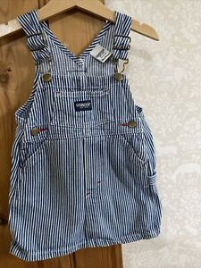 Osh Kosh B'Gosh Girls Dungaree Dress Size 18months