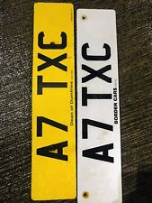A7 TXC TAXI PRIVATE NUMBER PLATE