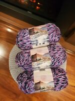 Lion Brand Yarn Hometown USA,  Tallahassee Taffy 3 Skeins Brand New