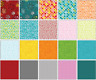 "FANDANGLE Charm Pack (42) 5"" squares 100% Cotton quilting Fabric Benartex"